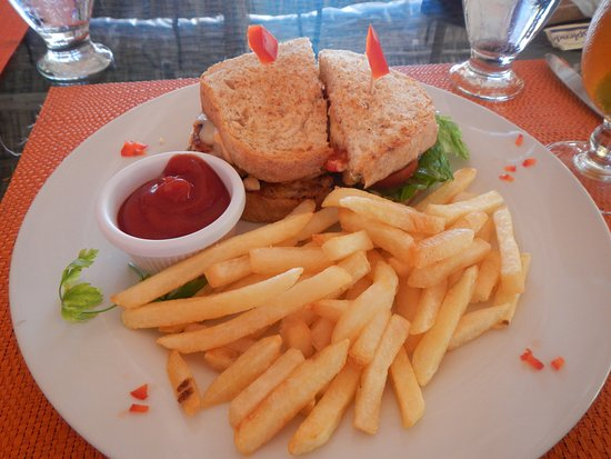 Matachica Resort Spa Grilled Chicken Sandwich Grilled Tender Chicken Breast And Balsamic Vegetables And