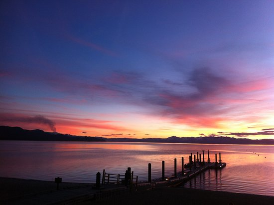 Lake Tahoe Nevada State Park: Another great sunset, same jetty 10 years later. Look how the water level has dropped.