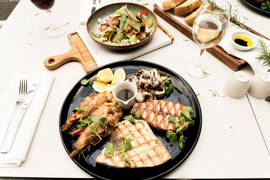 Canterbury, Australia: BBQ seafood plate on Father's Day