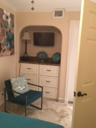 Casa Del Mar Beachfront Suites: character touches in hutch, tv in bedroom
