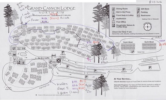 lodge map picture of grand canyon lodge north rim
