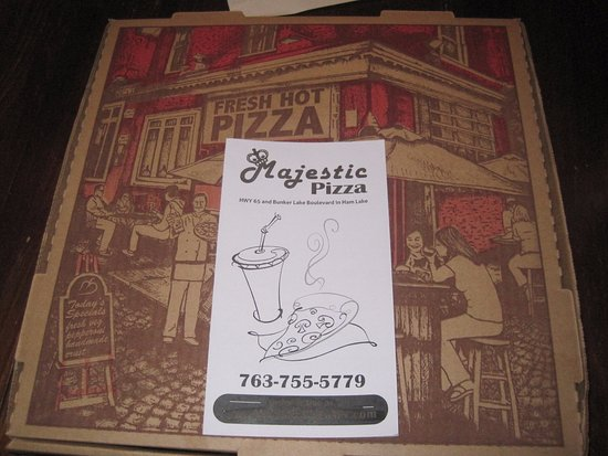 Ham Lake, Μινεσότα: The box the pizza came in!
