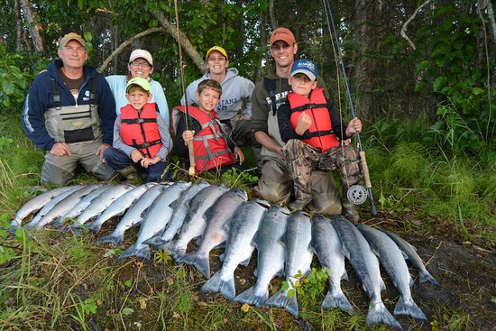 Soldotna, AK: Amazing Day on the Kenai. 18 Salmon with 7 fishing. Three boys, ages 6, 7 and 9.