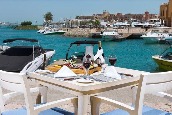 The Captain S Inn Captains Egypt Gouna Marina Restaurant Terrace