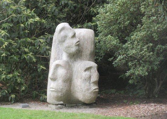 VanDusen Botanical Garden: Rock Art Faces, Van Dusen Botanical Garden,  Vancouver, BC