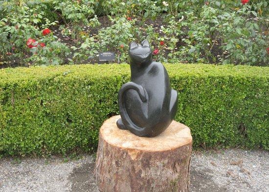 Cat Sculpture, VanDusen Botanical Garden, Vancouver, BC