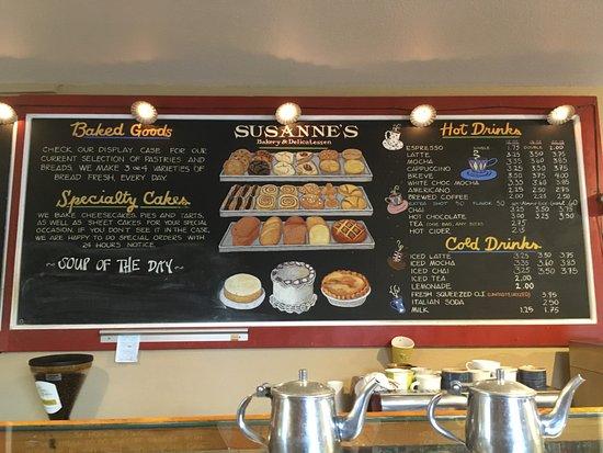 Susanne's Bakery & Deli: Menu
