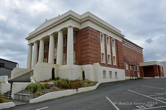 Invercargill, Yeni Zelanda: The Southland Masonic Centre, the magnificent home of the Southern Farmers Market