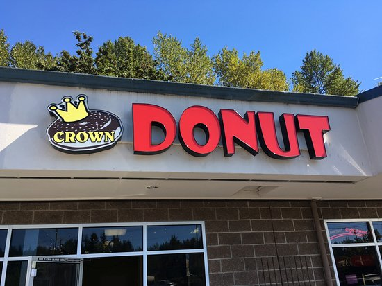 Crown Doughnuts: Sign to look for from the road...