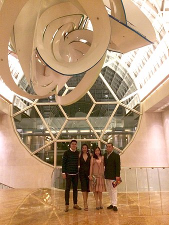 The Ritz-Carlton, Millenia Singapore: Us at the lobby before Les Mis.