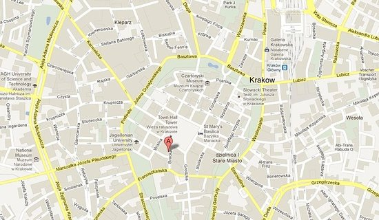 Map Picture of Pergamin Apartments Krakow TripAdvisor