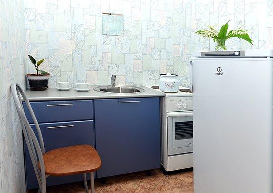 Solikamsk, Ryssland: kitchen in the room
