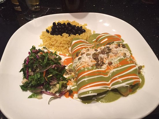 Chimayo Stone Fired Kitchen : the delicious enchiladas our son had for dinner