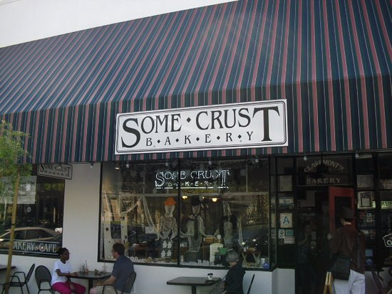 Some Crust Bakery: View from the parking spaces.