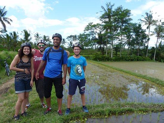 Bali Rocky Mountain Cycling Tour : dans les rizières