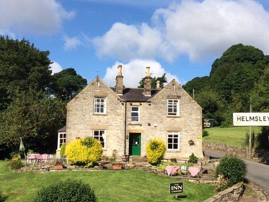 The Inn at Hawnby: in de zomer een heerlijk terras in de zon!