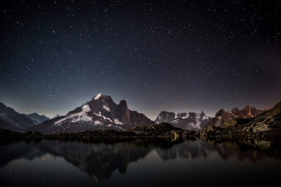 Lac Blanc in the night
