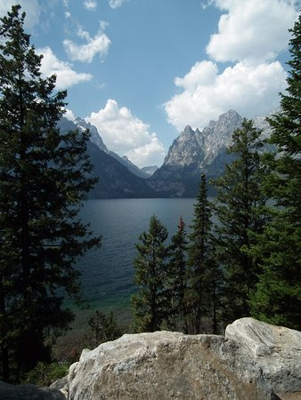 Jenny Lake: View from car park so worth the stop.