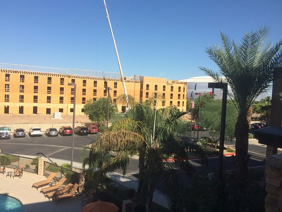 Hampton Inn & Suites Phoenix Glendale - Westgate: View from the room - you can see the stadium in the back
