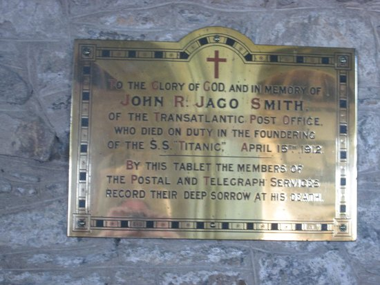 St Keverne, UK: Postal worker who lost his life on the Titanic.