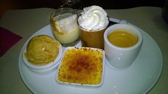 La Bree-les-Bains, Франция: Café gourmand 6.50€