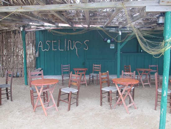 Megalos Aselinos Beach: La taverna