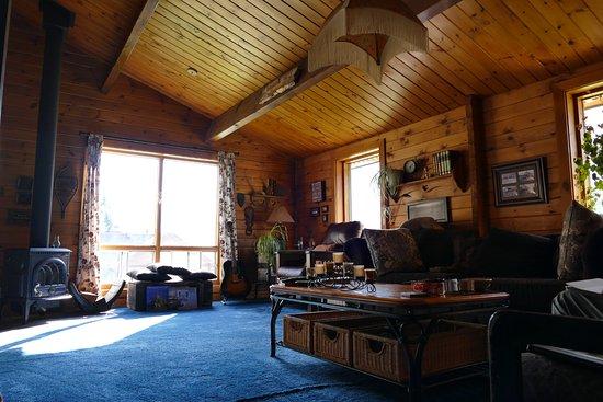 Coyote's Den Guesthouse : Le salon, tellement agréable :)