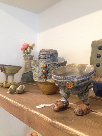 Art Couture Painswick Gallery: These adorable and quirky creations were hand-made by Jan Thompson