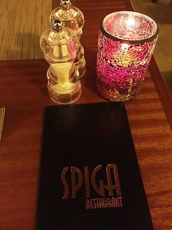 Spiga Restaurant: Table
