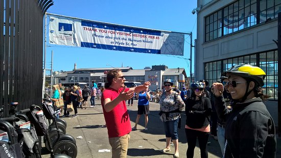 City Segway Tours San Francisco: Will talks about what is at Pier 45.