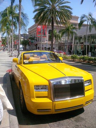 "Beverly Hills, CA: ""Big Bird,"" the Bijan Rolls Royce"