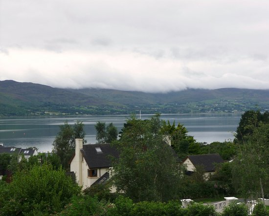 Rostrevor, UK: Carlingford loch from our window.