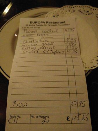 Europa Restaurant: IMG_20160901_195514_large.jpg