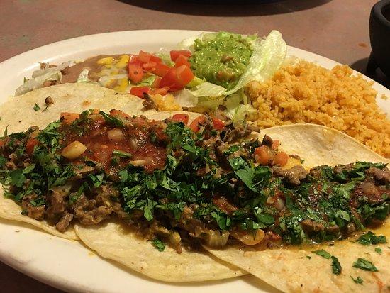 Los Cabos: chopped beef tacos
