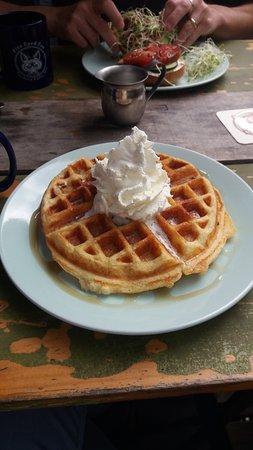 Turners Falls, MA: amazing waffle