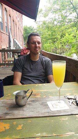 Turners Falls, MA: Mimosa in the morning
