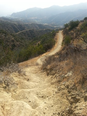 Trans-Catalina Trail: Coming onto Trail From Hermit Gulch