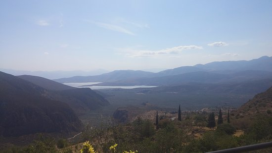 The view in Delphi Greece near the Oracle of Delphi location