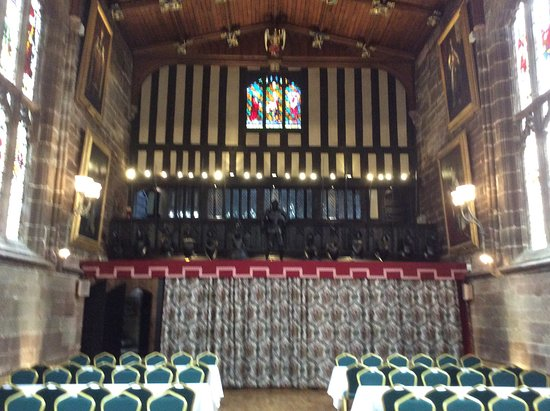 Coventry, UK: Inside the hall, the ole minstrels gallery