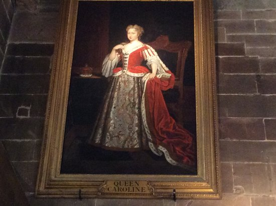 Coventry, UK: A great painting of Queen Caroline .