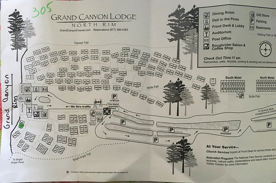 ‪‪Grand Canyon Lodge - North Rim‬: map with cabin numbers‬