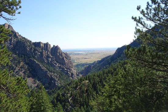 Eldorado Springs, Kolorado: View from the trail