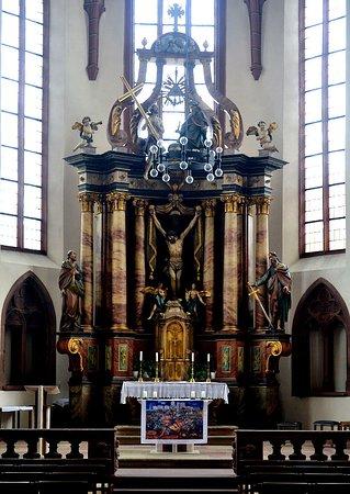 Mosbach, Duitsland: Hochaltar in St.Juliana.
