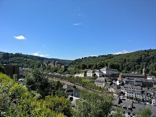 Panorama Hotel: overview of Bouillon from the room