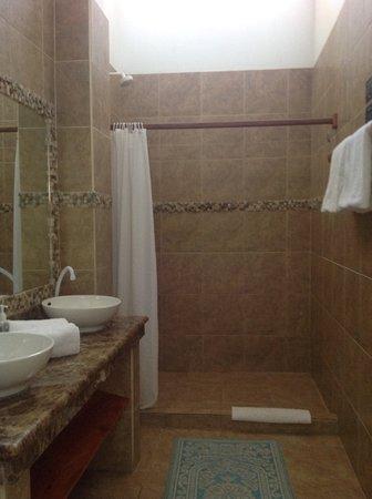 Hotel Albemarle: Baño con bastante agua caliente
