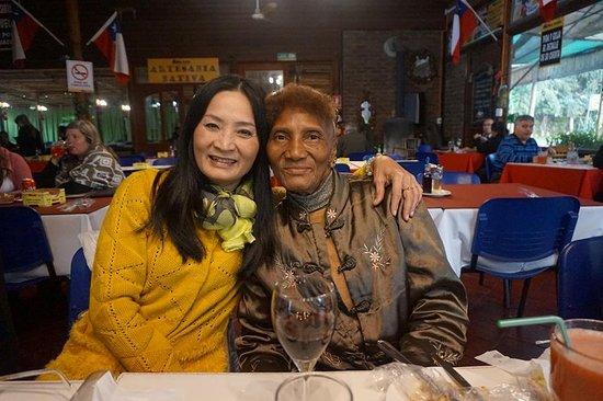 Calera de Tango, Chile: 美國來的訪友。