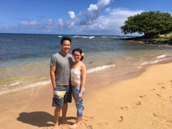 St. Regis Princeville Resort: Pu'u Poa beach, just footsteps from our room.