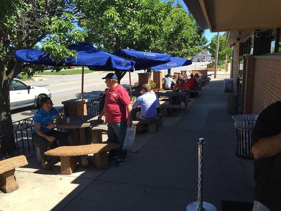 Tenuta's: Great panini - walk up window with outdoor seating