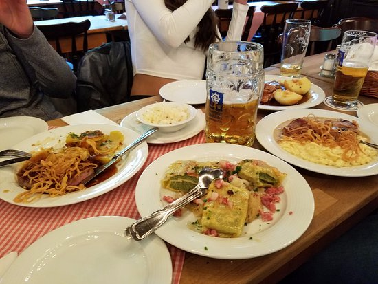 Our delicious feast - Picture of Augustiner-Keller, Munich ...
