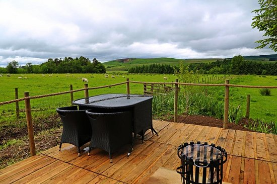 Newcastleton, UK: View of the decking